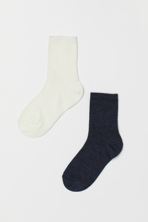 2-pack wool-blend socks