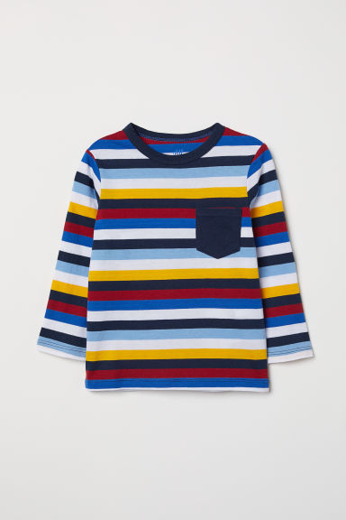 Jersey top - Yellow/Multicoloured stripes - Kids | H&M