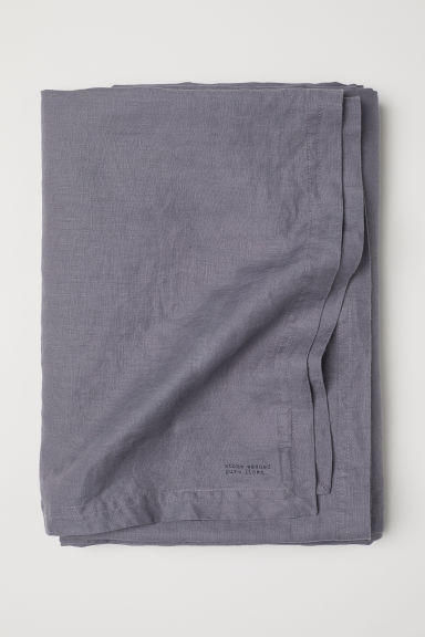 Washed linen tablecloth - Grey - Home All | H&M CN