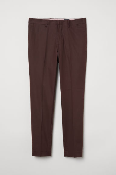 Suit trousers Skinny fit - Burgundy - Men | H&M CN