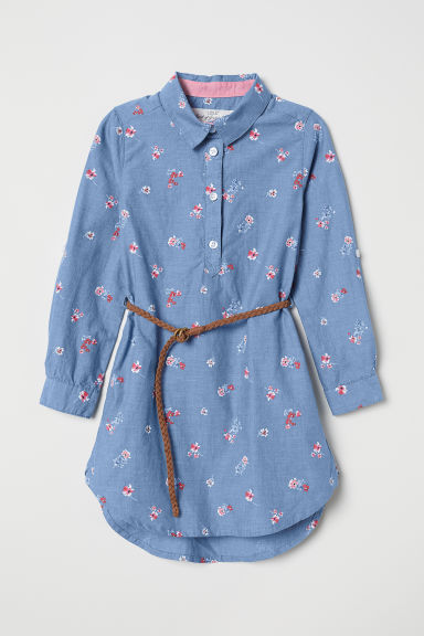 Chemisier - Blu denim/fiori - BAMBINO | H&M IT