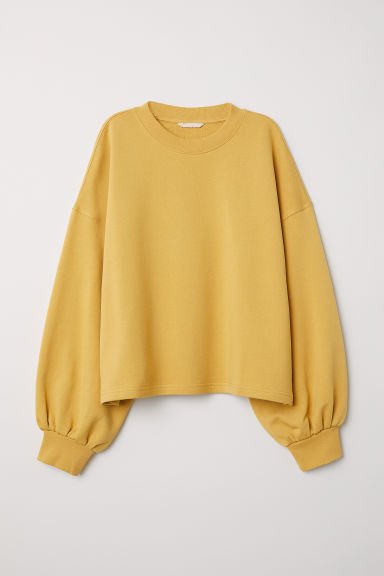 Wide sweatshirt - Dark yellow - Ladies | H&M