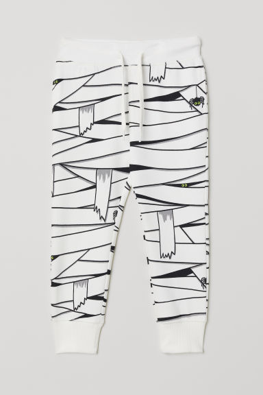 Joggers - White/Mummy - Kids | H&M CN
