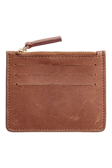 Leather card holder - Brown -  | H&M