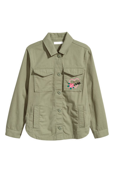 Cargo jacket - Khaki green - Kids | H&M CN