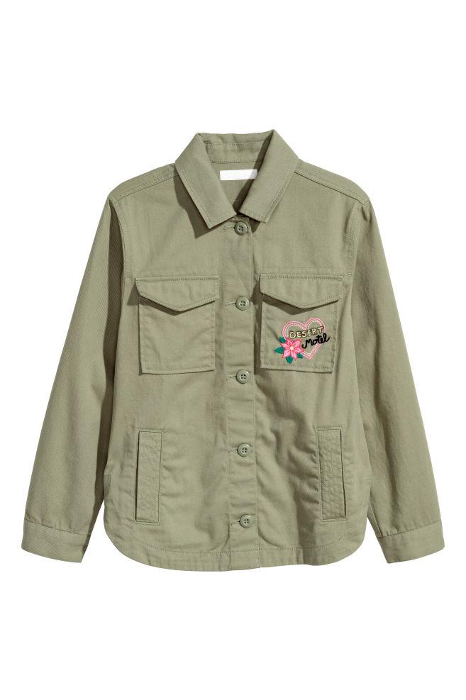 d153a2cbe9939 Cargo Jacket - Khaki green - Kids | H&M ...