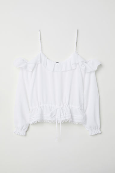 Cold shoulder blouse - White - Ladies | H&M