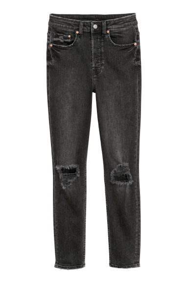 Vintage Skinny High Jeans - Black/Washed out - Ladies | H&M