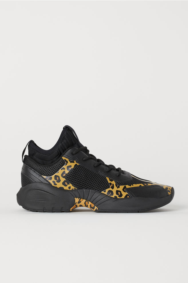 Tenisky zo sieťoviny - čierna leopardí vzor - MUŽI  72ce265f717