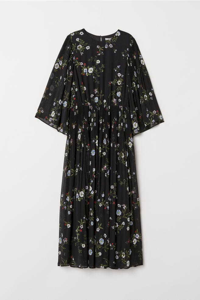 f2d174421 Chiffon Dress - Black/floral - Ladies | H&M ...