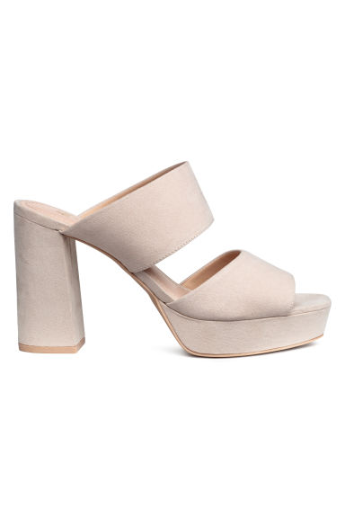 Mules - Light beige -  | H&M