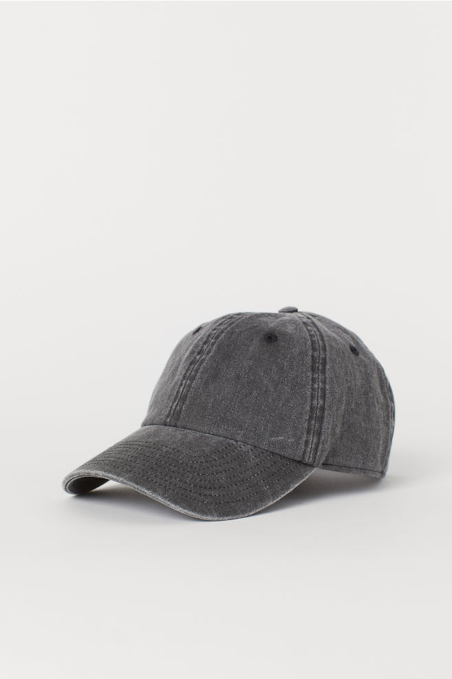 99fec6c66fe Washed Cotton Cap - Black - Men
