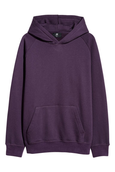 Hooded top Loose fit - Dark purple - Men | H&M