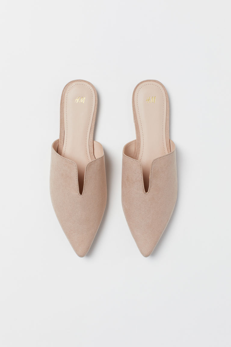 Pointed Mules - Beige - Ladies | H&M US