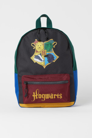 H&M 키즈 해리포터 백팩 Printed Backpack,Dark gray/Hogwarts