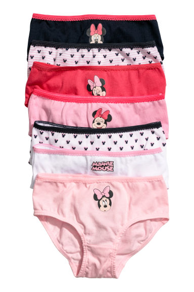 Set van 7 katoenen slips - Rood/Minnie Mouse - KINDEREN | H&M BE