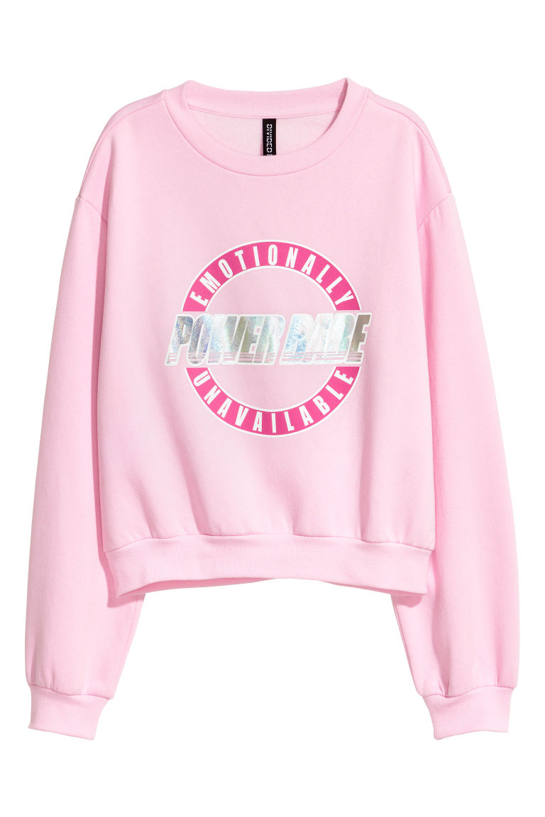 Sweatshirt with a motif - Pink - Ladies | H&M
