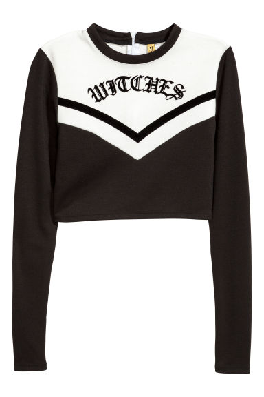 Cheerleader top - Black/White - Ladies | H&M CN
