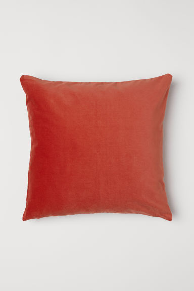Copricuscino in velluto - Arancione scuro - HOME | H&M IT