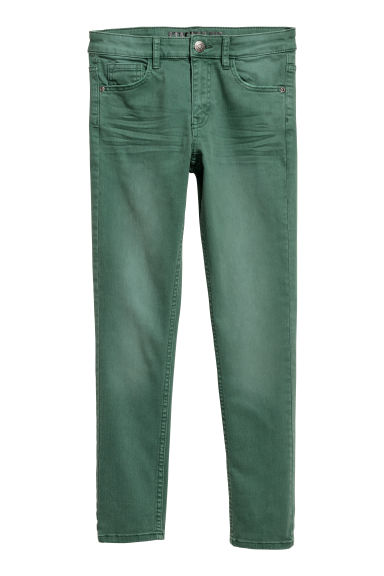 Superstretch Skinny Fit Jeans - Donkergroen - KINDEREN | H&M BE