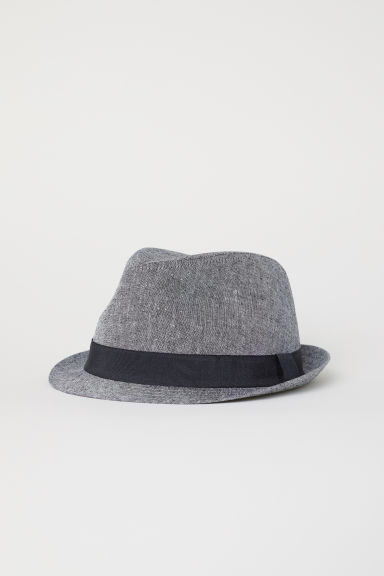 Linen-blend hat - Grey - Men | H&M