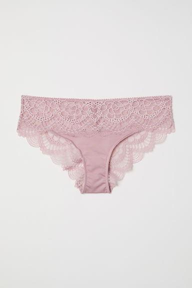 Lace hipster briefs - Old rose - Ladies | H&M