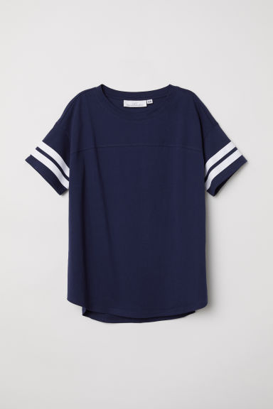 T-shirt a maniche corte - Blu scuro -  | H&M IT