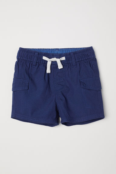 Cotton cargo shorts - Dark blue - Kids | H&M