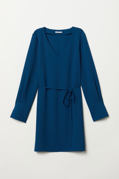 V-neck dress - Petrol - Ladies | H&M
