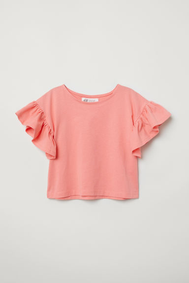 Jersey top with flounces - Apricot - Kids | H&M