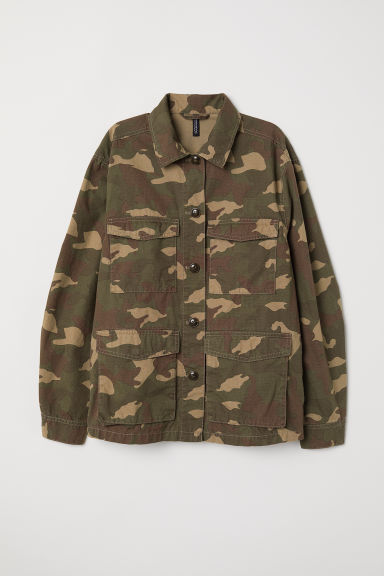 Utility jacket - Khaki green/Patterned -  | H&M