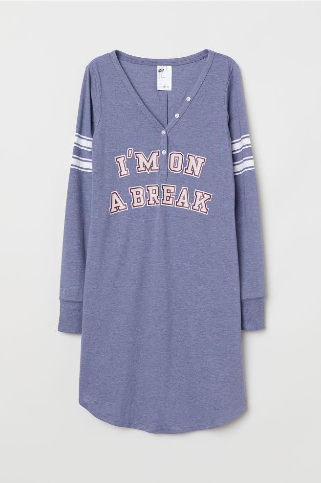 207fd77c2afd3d Nachthemd aus Jersey - Blaumeliert - DAMEN