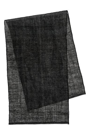 Linen table runner - Dark grey -  | H&M IE