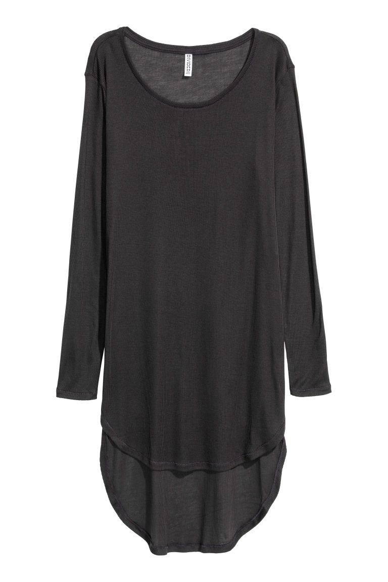 Langes Jerseyshirt - Schwarz -  | H&M AT