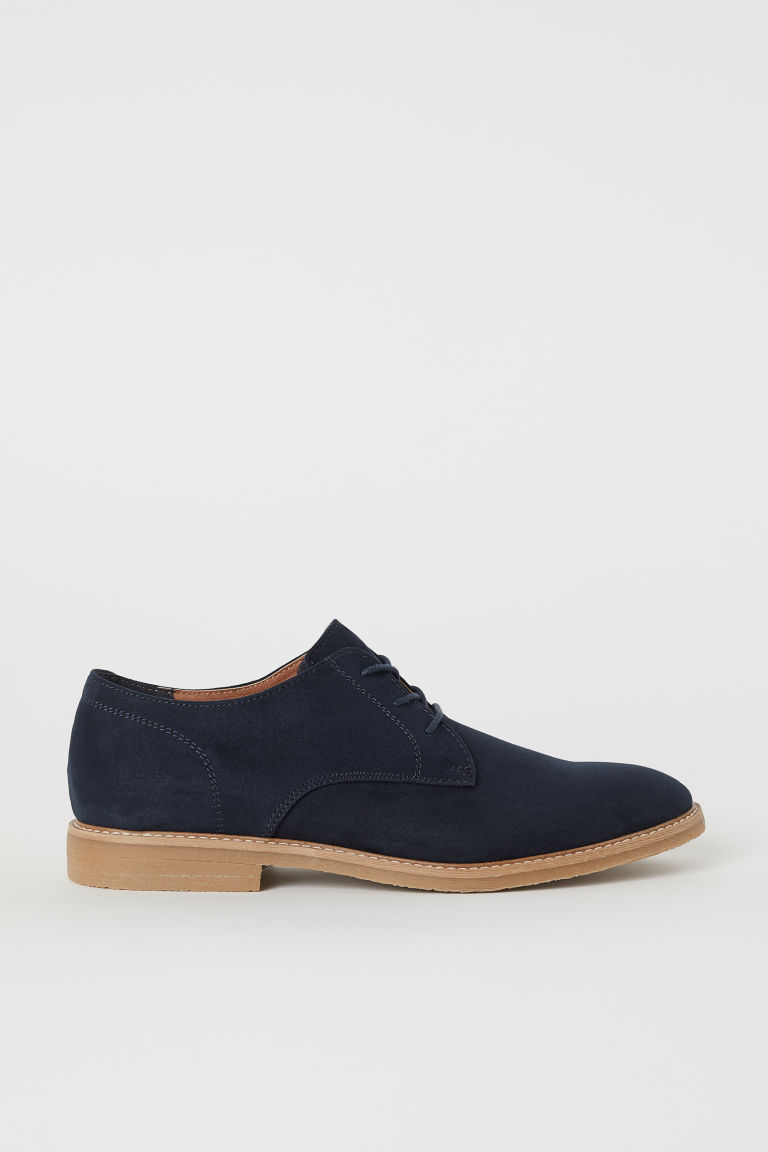 Derby shoes - Dark blue - Men | H&M