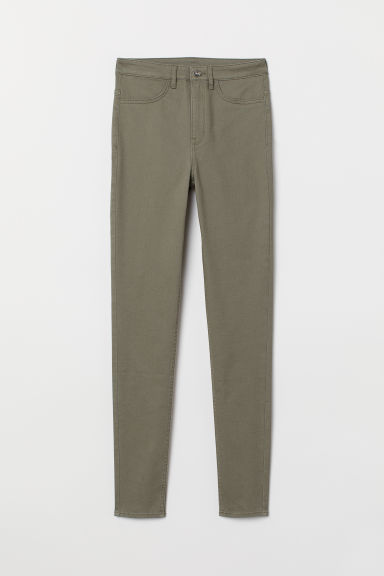 Super Skinny High Jeans - Khaki green - Ladies | H&M