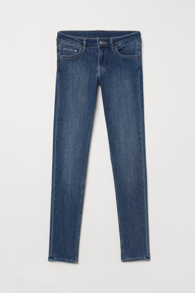 Super Skinny Low Jeans - Blu denim scuro/lavato -  | H&M IT