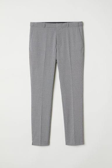 Suit trousers Skinny fit - Black/Dogtooth - Men | H&M CN