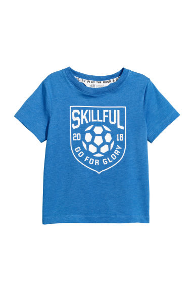 T-shirt with a motif - Blue - Kids | H&M