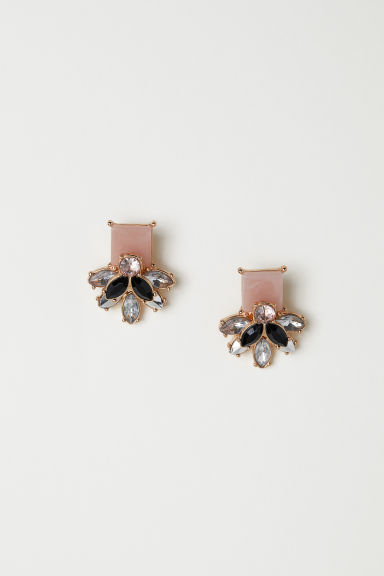 Stud earrings - Pink -  | H&M