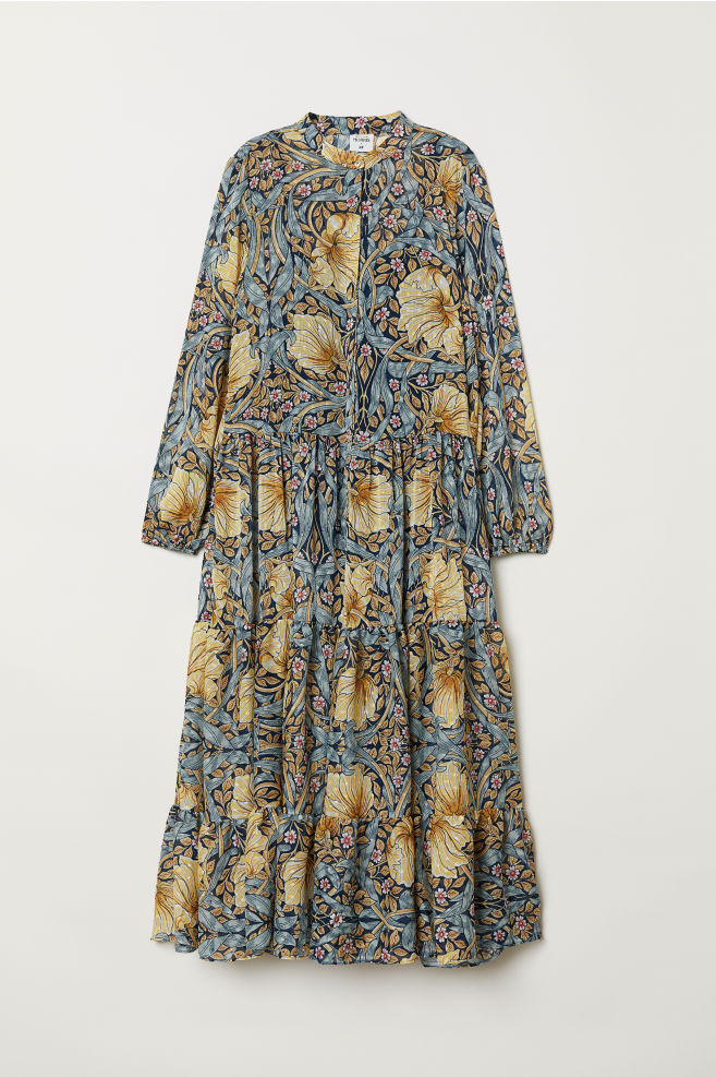 63bb96602320 Patterned maxi dress - Blue/Floral - Ladies | H&M ...