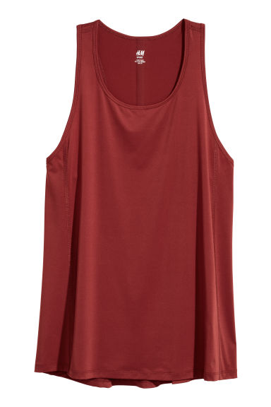 Sports vest top - Rust red - Ladies | H&M CN