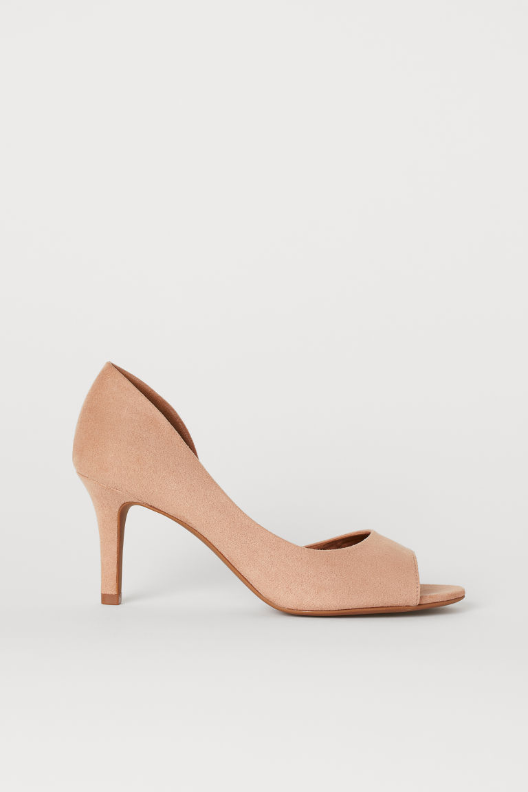Open-toed court shoes - Powder pink - Ladies | H&M IE
