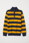 Dark blue/Yellow striped