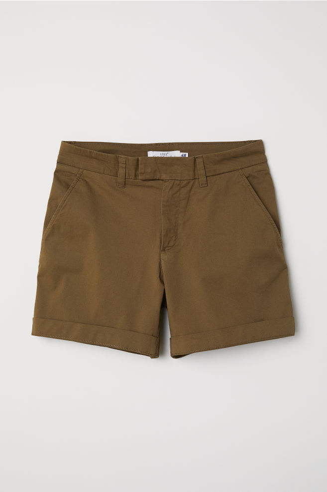Short Chino Shorts - Dark khaki green - Ladies  a8e21c8136295
