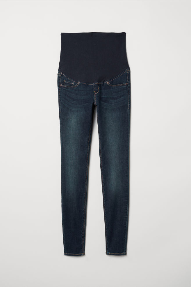 06f27cf080a06 MAMA Super Skinny Jeans - Dark denim blue - Ladies | H&M ...