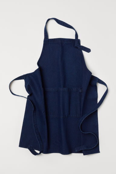 Denim apron - Dark denim blue - Home All | H&M CN