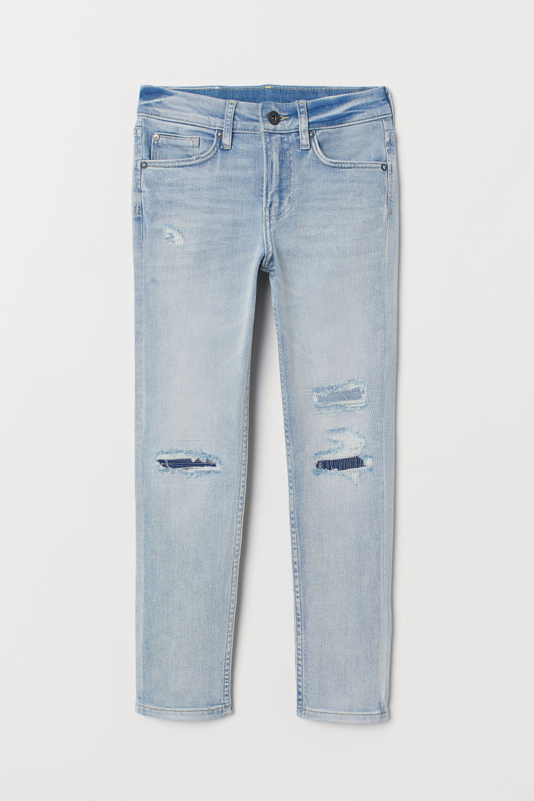 Superstretch Skinny Fit Jeans - Light denim blue/trashed - Kids | H&M CA