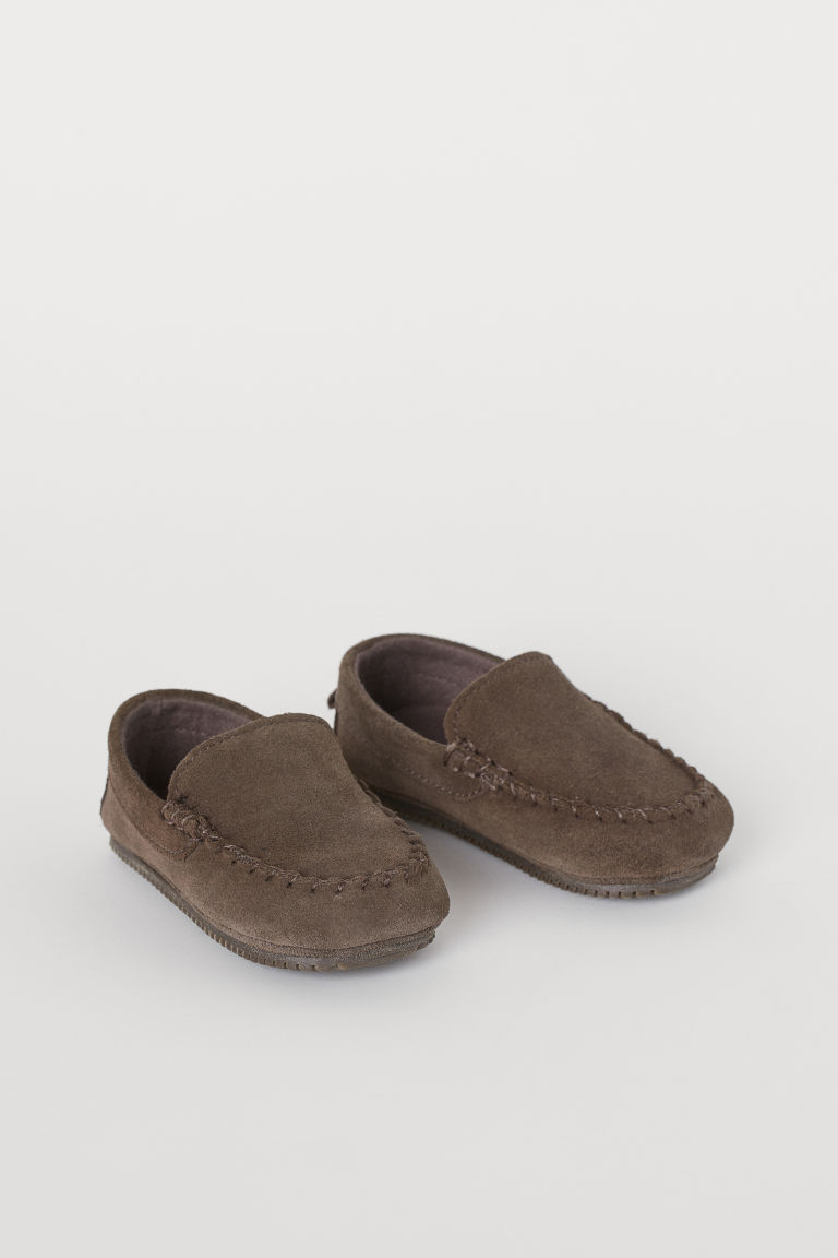 Suede Loafers - Dark brown - Kids | H&M US