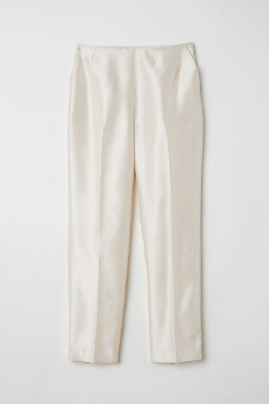 Tailored trousers with a sheen - Light beige - Ladies | H&M CN